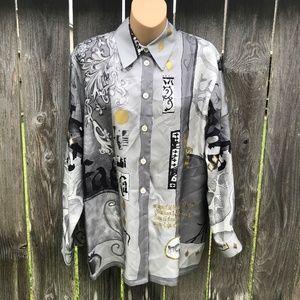 Laurel Escada Vintage Silk Tunic Blouse Size 38